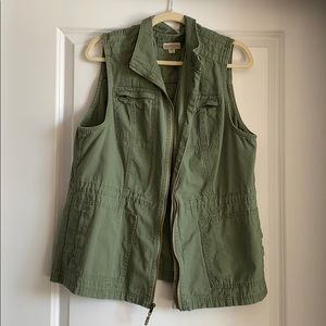 Green Military-style Vest